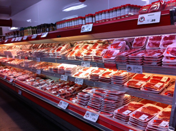 Image of a meat case